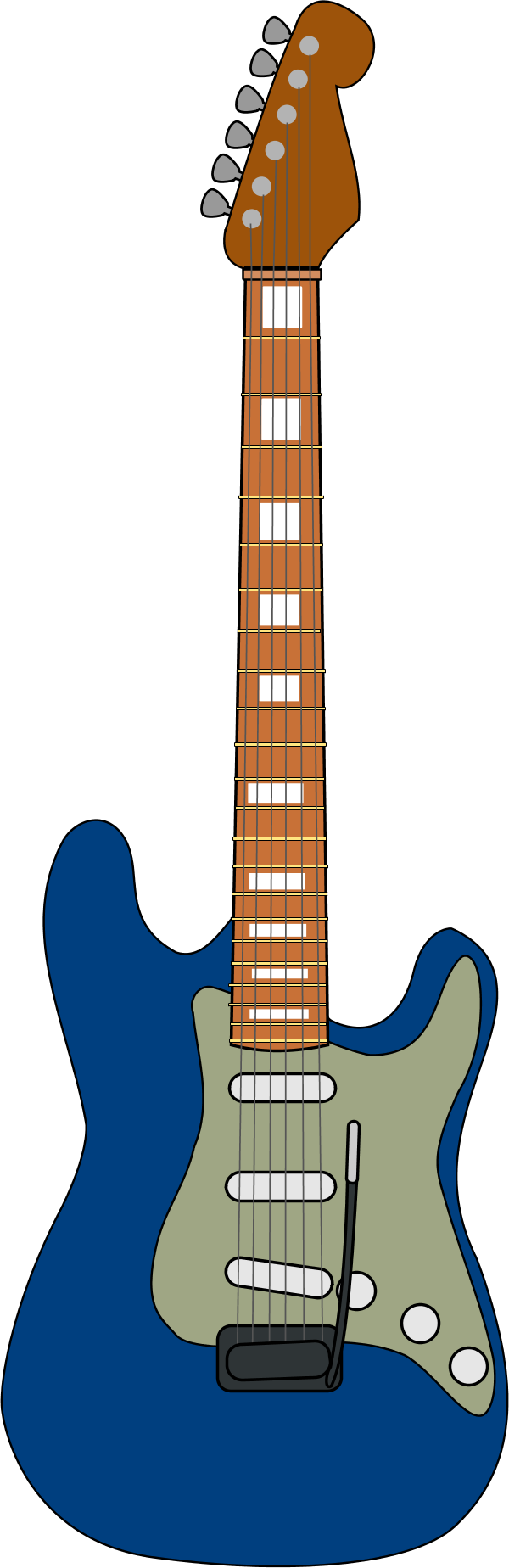 Wooden guitar vector clip art
