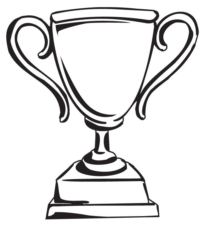 1 trophy black clipart clipart kid