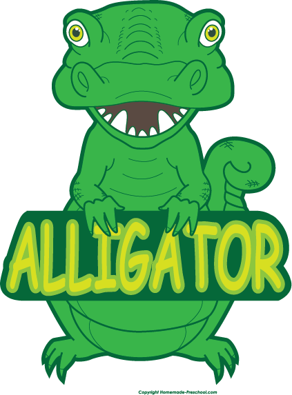 Alligator clipart 3