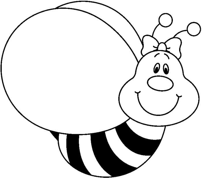 Bee clipart black and white craft projects black and white