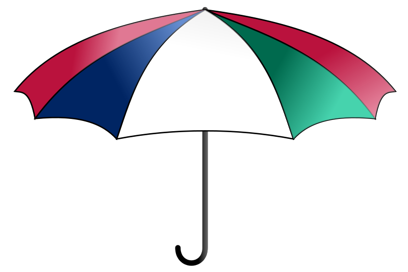Clipart of an umbrella clipart