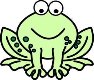 Cute hopping frog clipart free clipart images