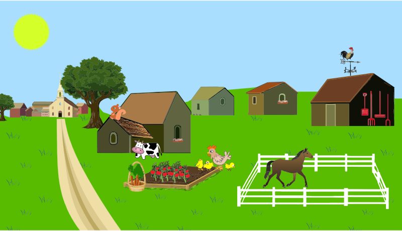 Farm free to use clip art