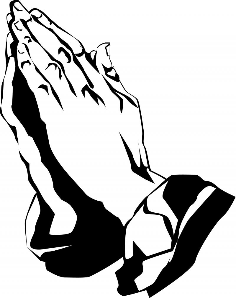 Free clipart praying hands 4