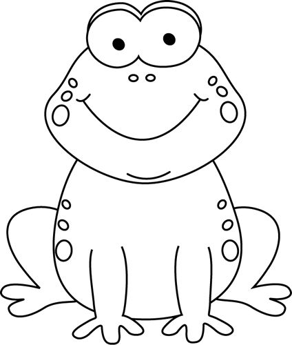 Frog clip art black and white animals clip art downloadclipart org