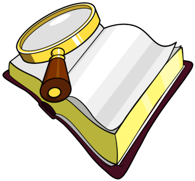 Image magnifying glass over bible with the words seek the lord clip art