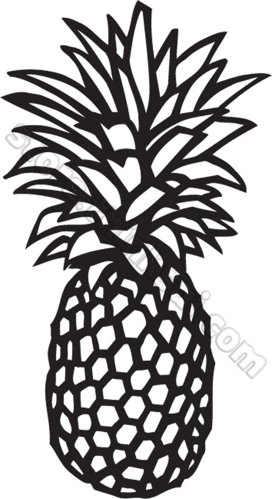 Pineapple clipart black and white free clipart 4