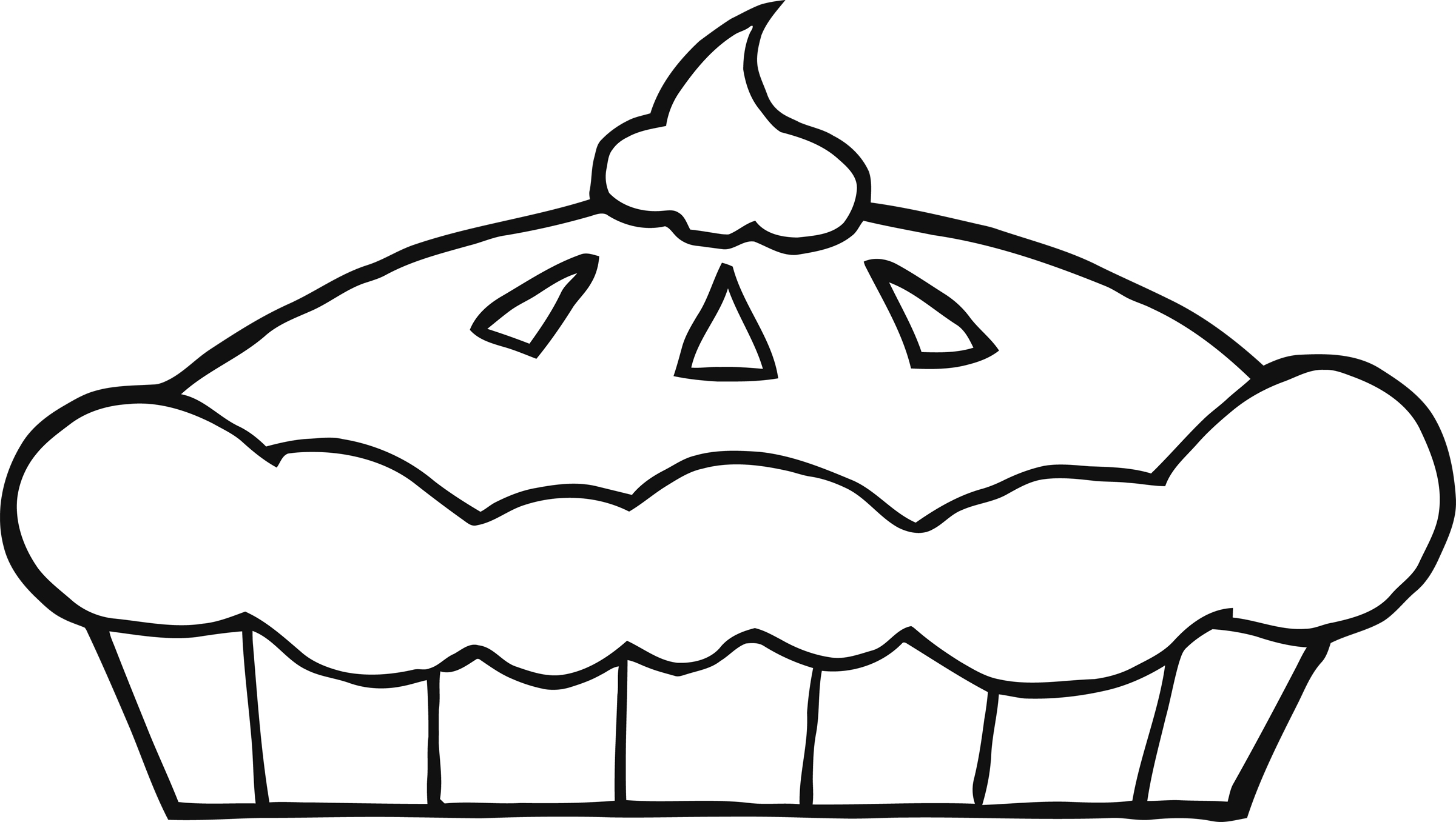 Pumpkin pie clip art black and white free