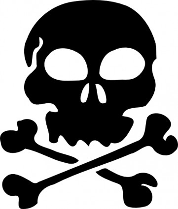 Skull clip art free vector in open office drawing svg svg