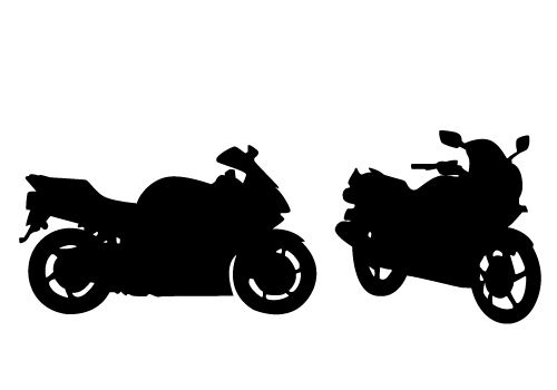 Stunning view of a motorcycle silhouette vector free download clip art