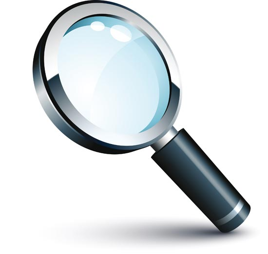 Vector magnifying glass clipart 2