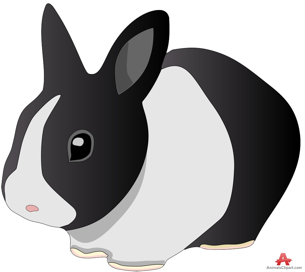 Black and white rabbit clipart free clipart design download