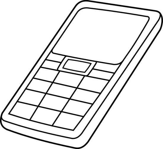 Cell phone clipart black and white free clipart 2
