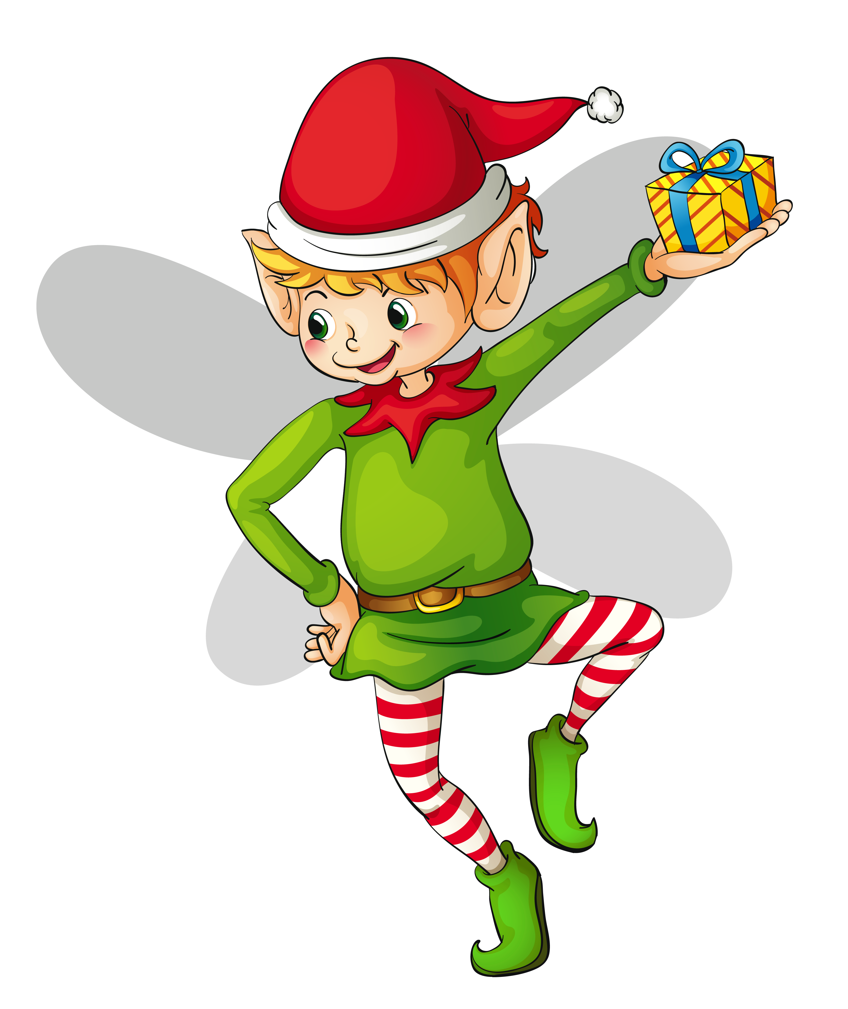 Christmas cute elf clipart 0