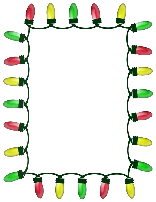 Christmas lights clipart 3