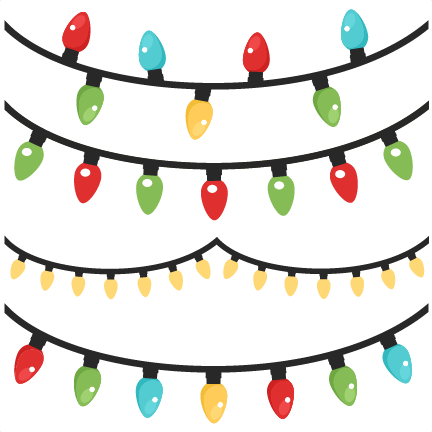 Christmas lights scrapbook clip art christmas cut outs for cricut