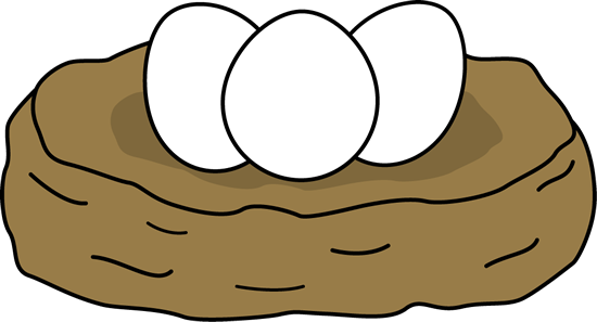 Egg in nest clipart