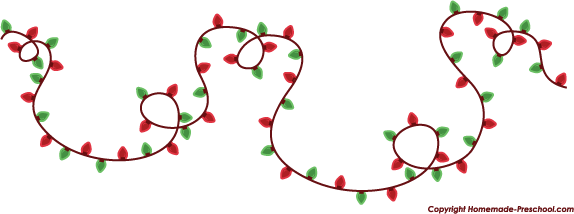 Free christmas lights clipart 2