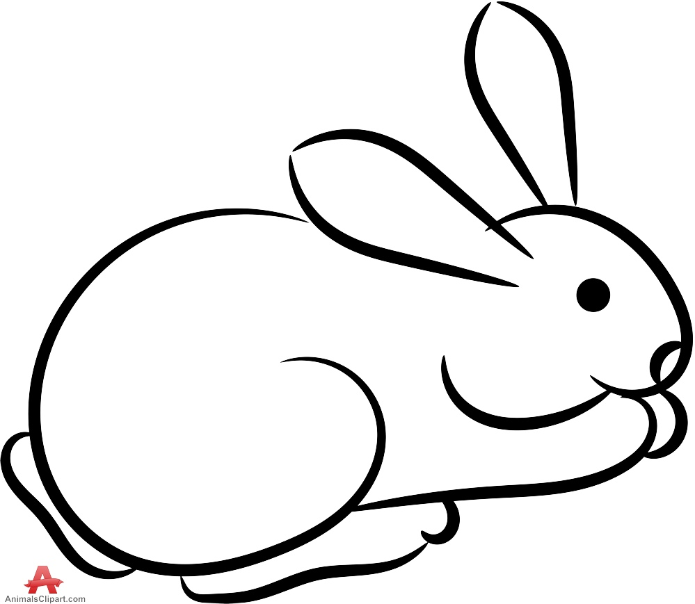 Outline rabbit clipart free clipart design download