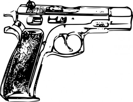 Police gun clip art free vector in open office drawing svg svg 2