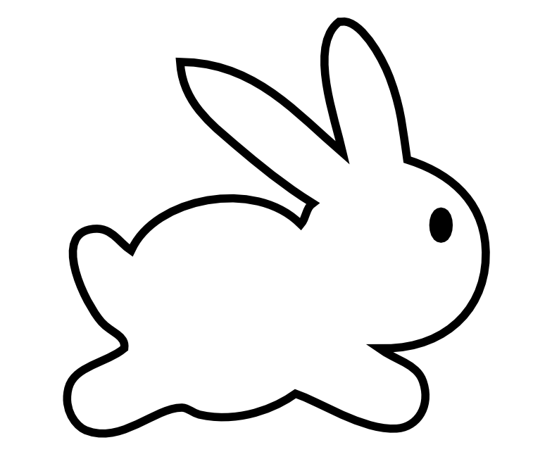 Rabbit clip art groups of gray rabbits three rabbits image 3 2