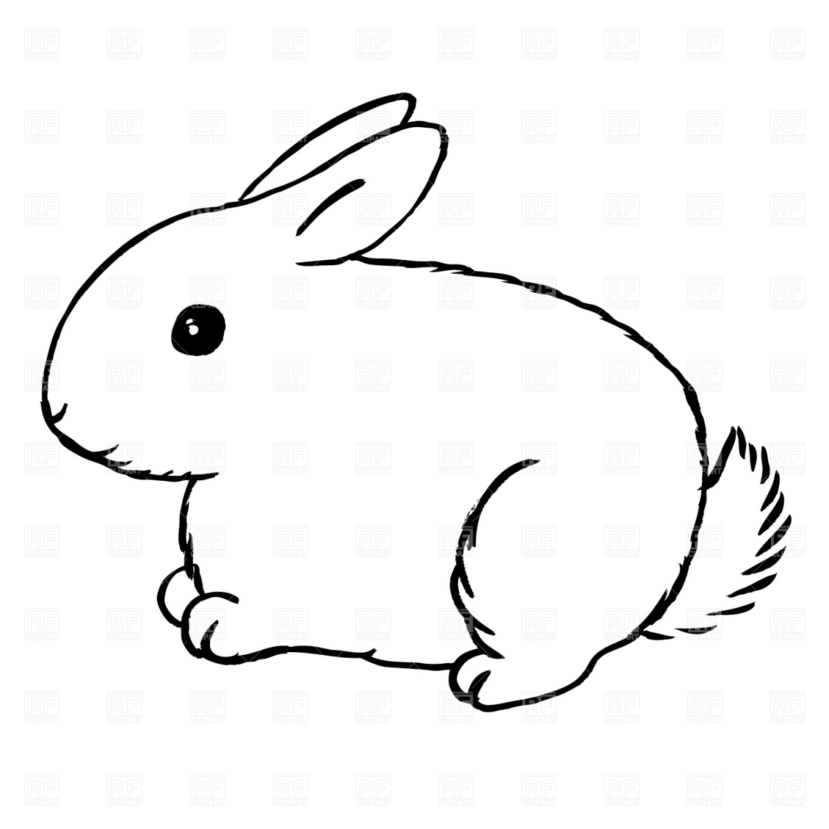 Rabbit clipart free clipart images 6