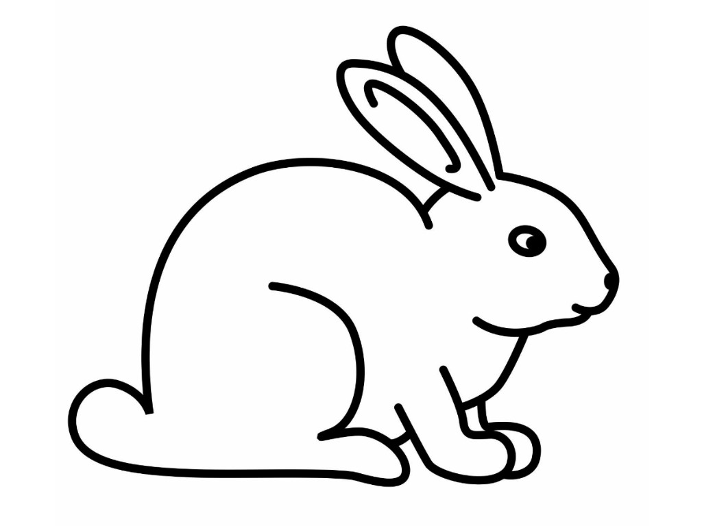 Rabbitloring pages for kids loring clipart