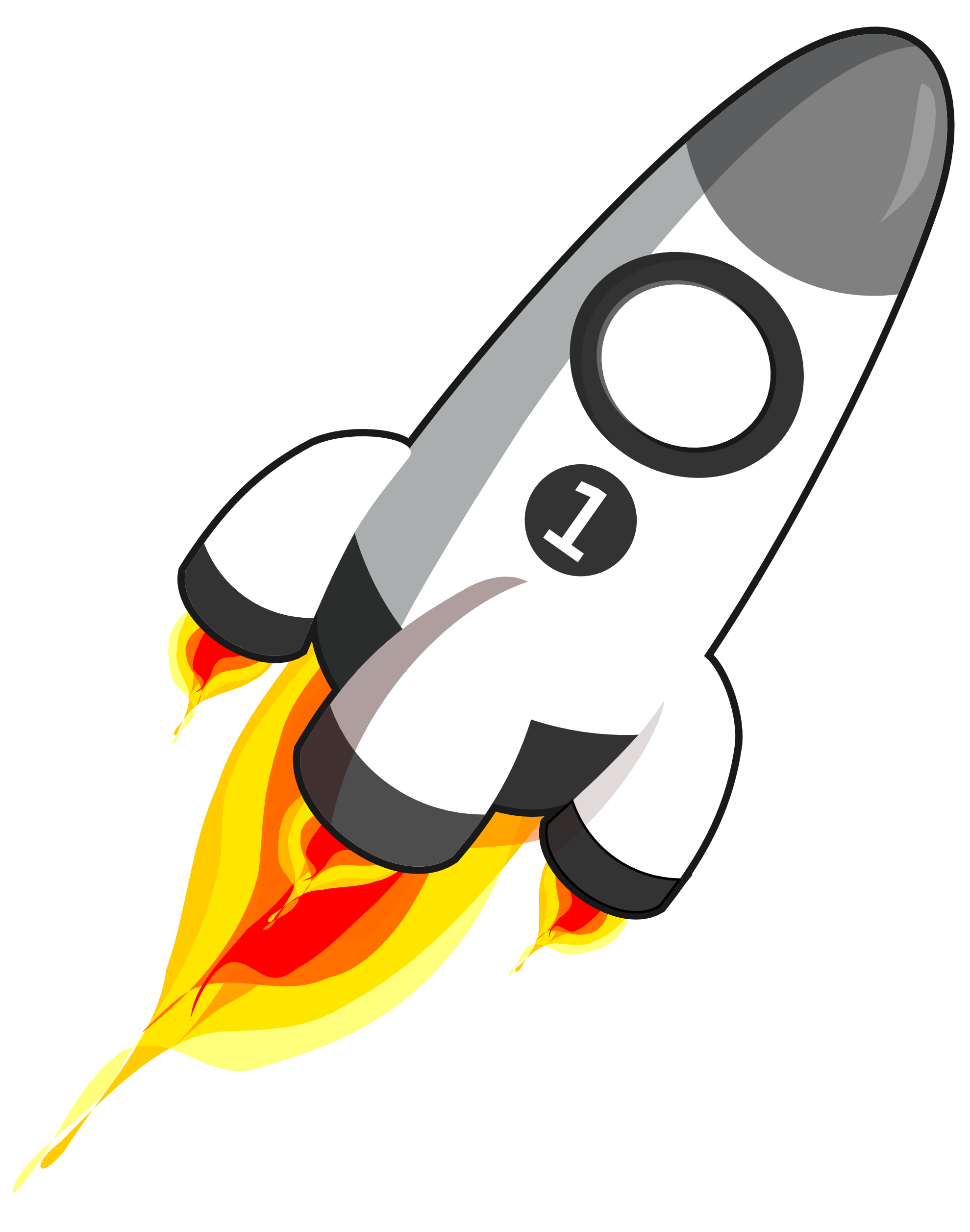Rocket clipart black and white free clipart images 4