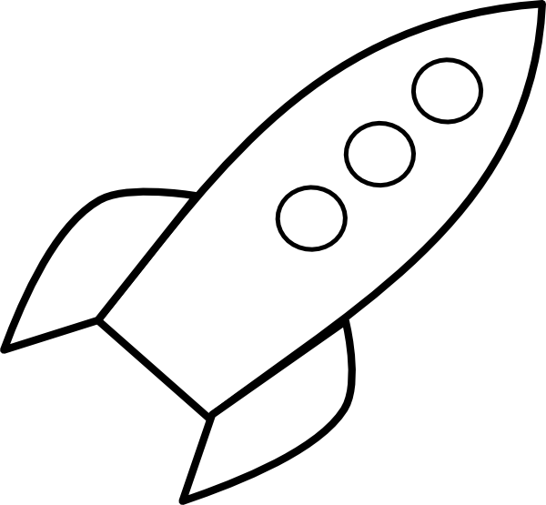 Space rocket clip art black and white pics about space 2
