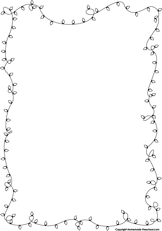 String of christmas lights black and white clipart clipart kid 3