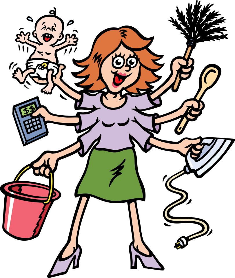 Crazy mom clipart