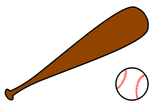 Crossed baseball bat clipart free clipart images 5