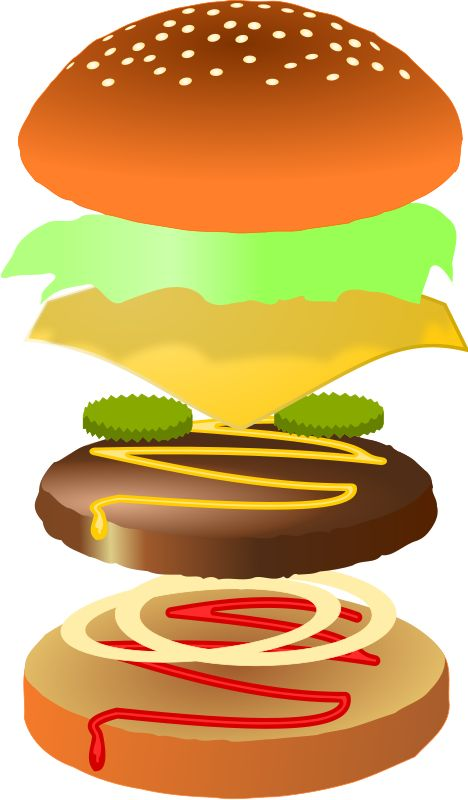 Hamburger clipart play food crochet felt foam paper more