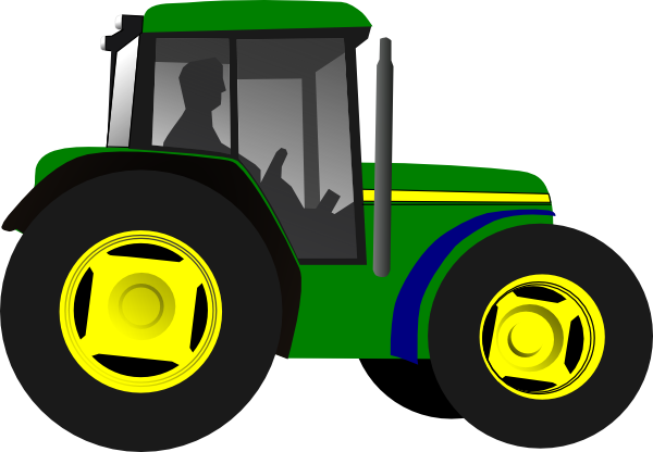 John deere green tractor clipart free clipart images