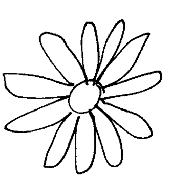 Black daisy clipart free to use clip art resource