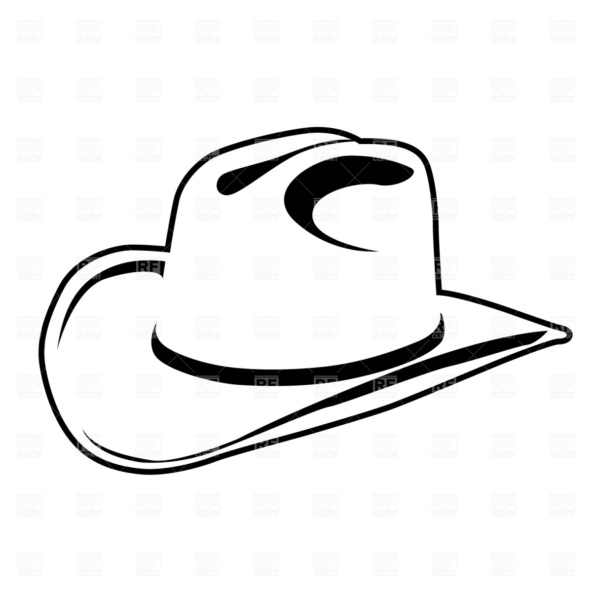 Cowboy hat blackwboy hat clipart kid