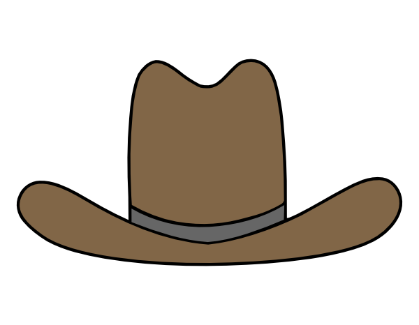 Cowboy hat clipart kid