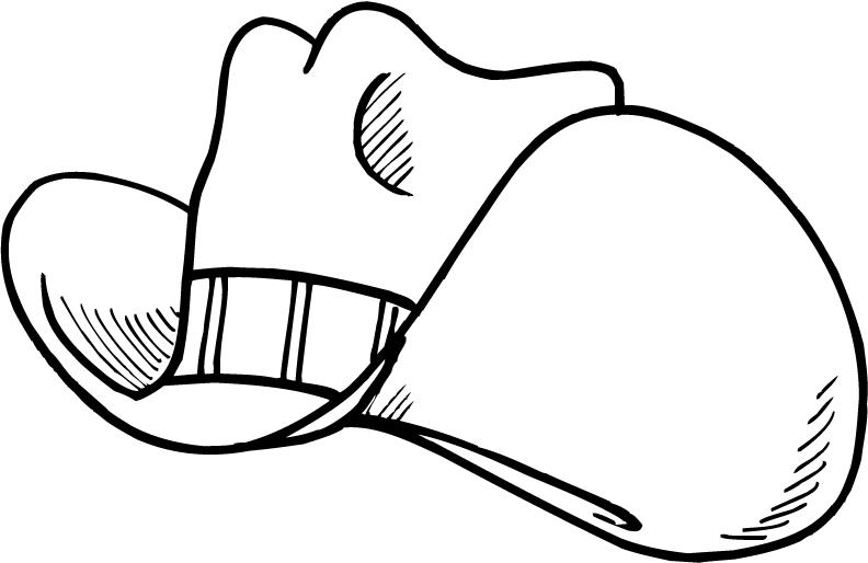 Cowboy hat outline of awboy hat clipart