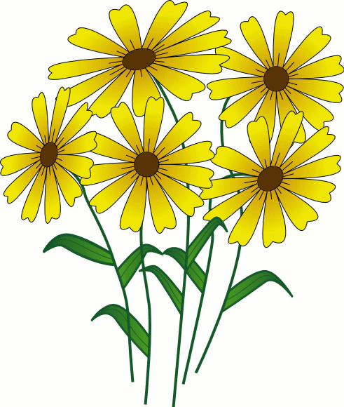 Daisy bouquet clipart kid 2