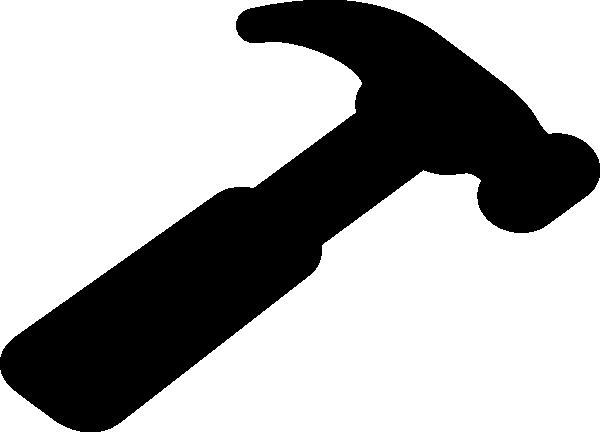Hammer clip art silhouette download vector clip