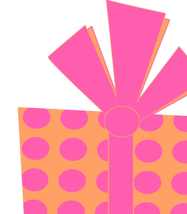 Pink birthday present clipart kid