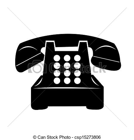 Telephone black and white clipart kid