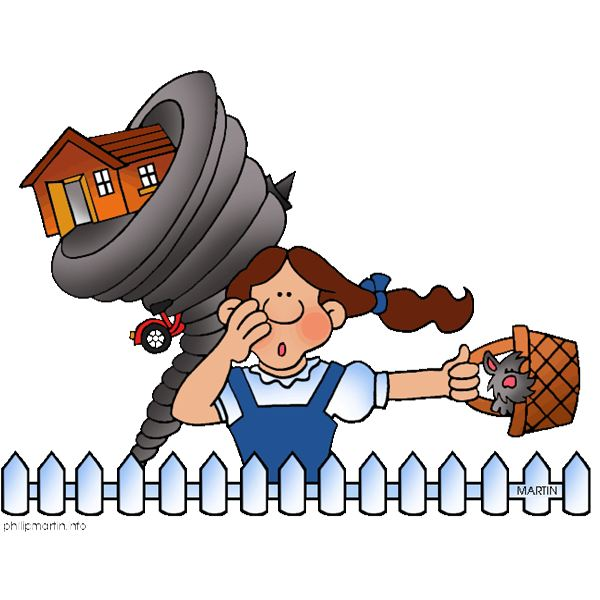 Wizard of oz clipart tornado scene free 2