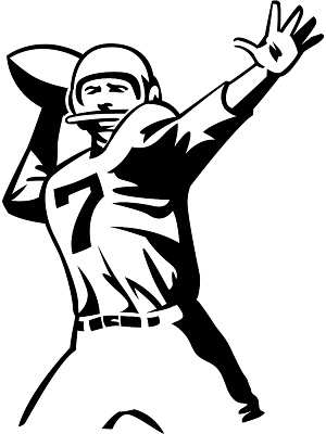 Cartoon football player clipart kid