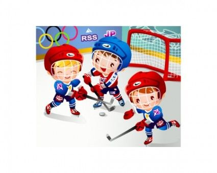 Children hockey clipart sports theme teaching parties crafts