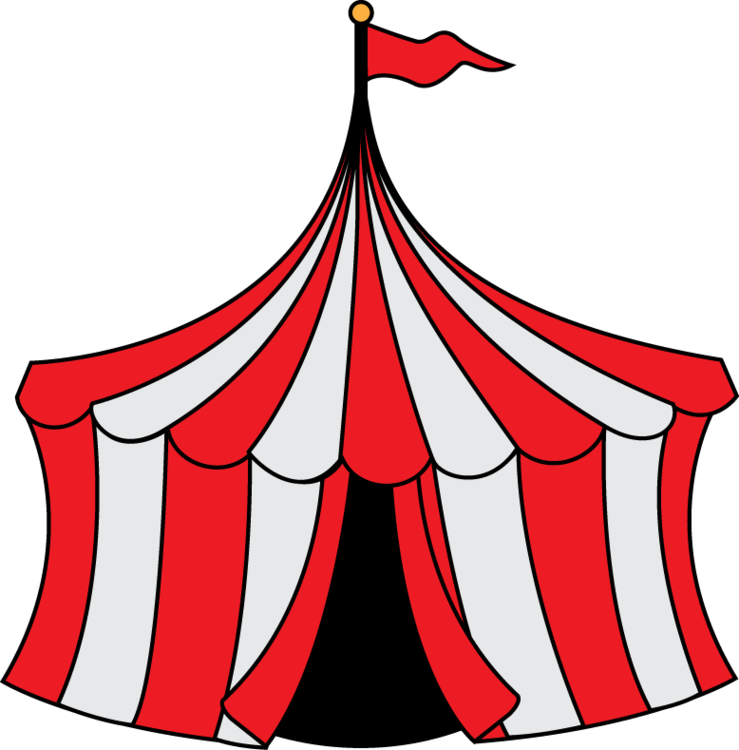 Circus tent clip art clipart free to use resource