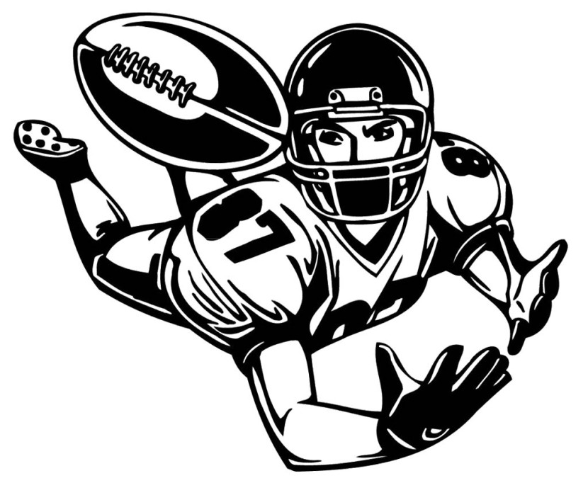 Football player clipart 3