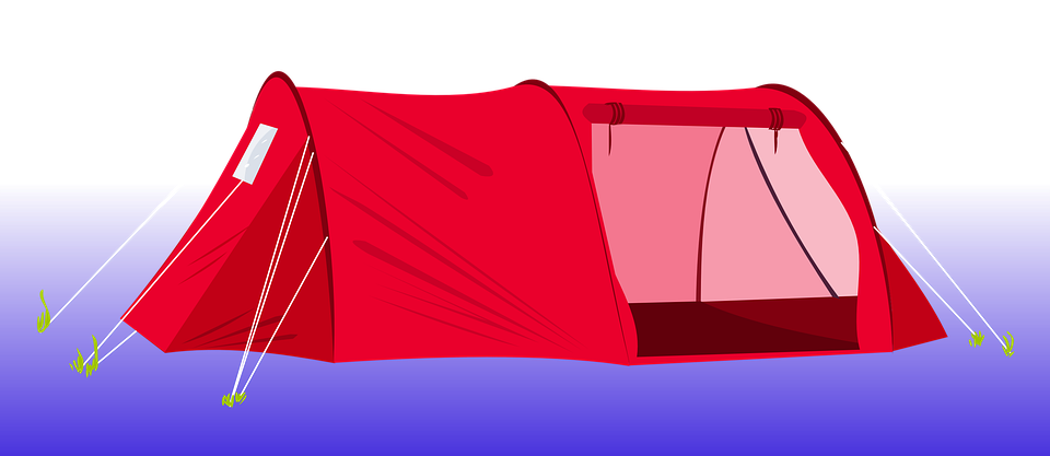 Free illustration tent camping red clip art image on