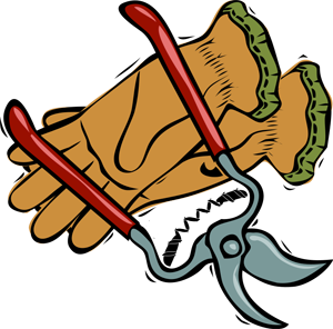 Gardening clipart graphics of gardeners and tools 2