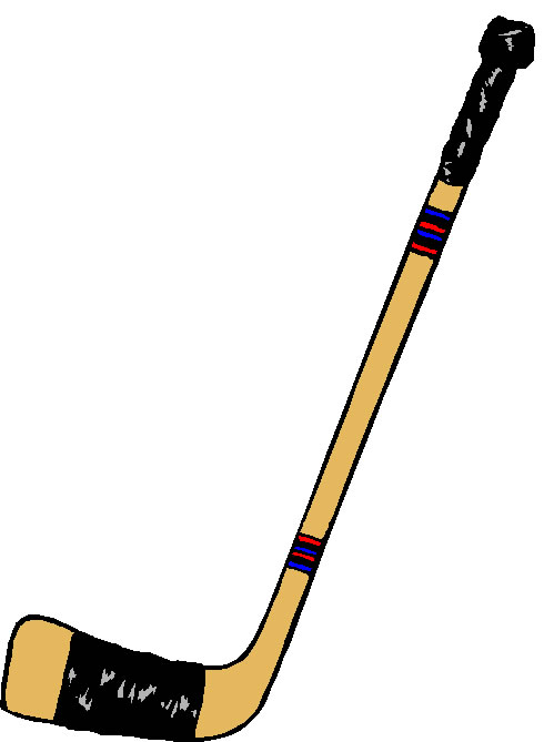 Ice hockey stick clipart kid